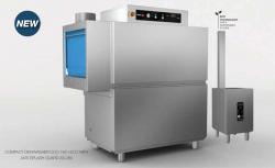 """Tunnelopvaskemaskine: Fagor """"Compact"""" med gasfyr CCO-120 (mindre strømbehov)"""